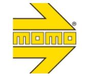 MOMO モモコルセ ステアリング ロゴ Racecar Parts レースカーパーツ