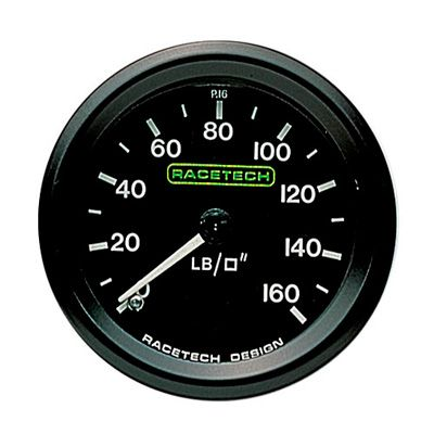 P16 Racetech レーステック 油圧計 0-160 psi