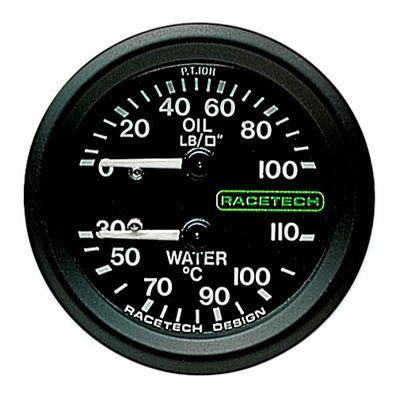 PT1011 Racetech レーステック 油圧 水温 ゲージ