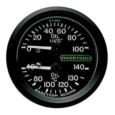 PT1014 Racetech レーステック 油圧 油温 ゲージ